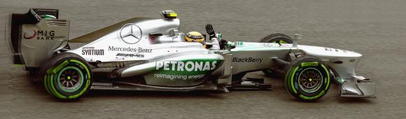 Lewis Hamilton on Pole in Spa 2013